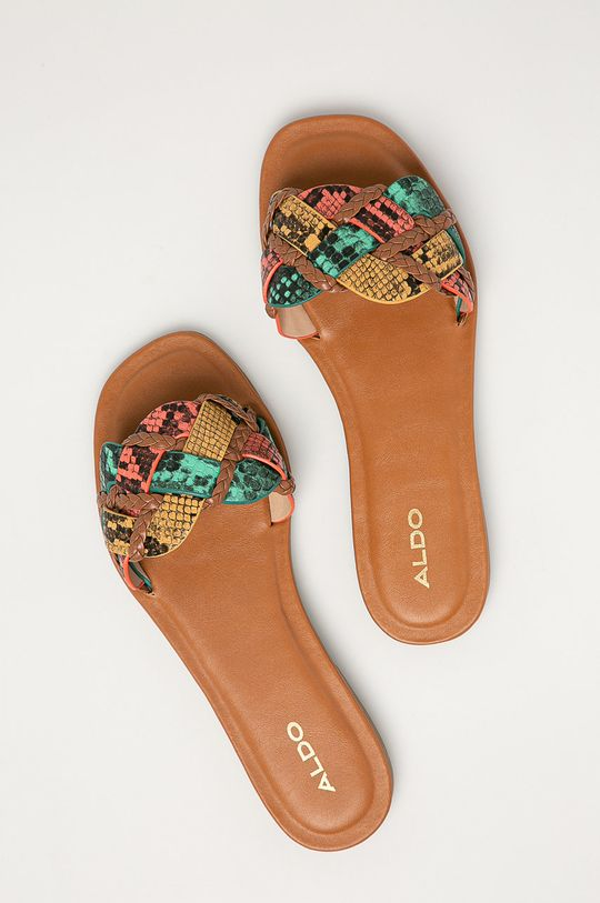 vícebarevná Aldo - Kožené pantofle Lothelalian