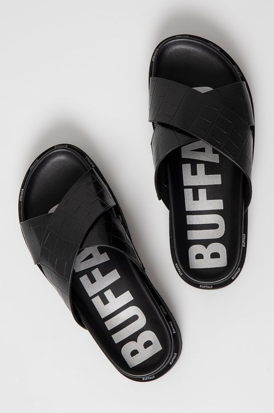 czarny Buffalo - Klapki