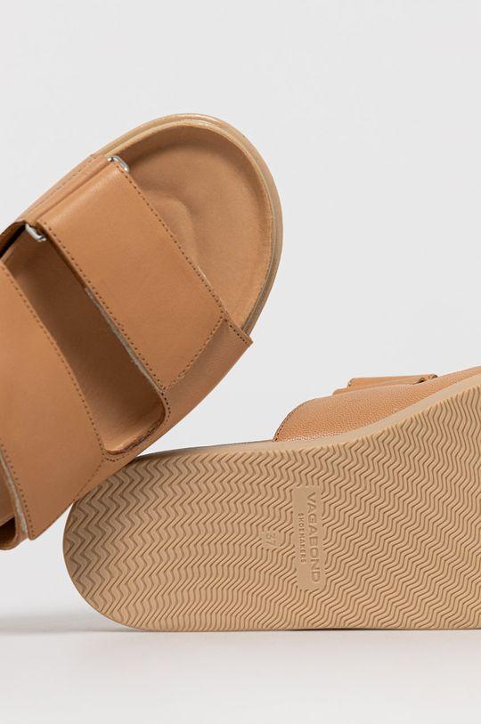 béžová Vagabond - Kožené pantofle Erin