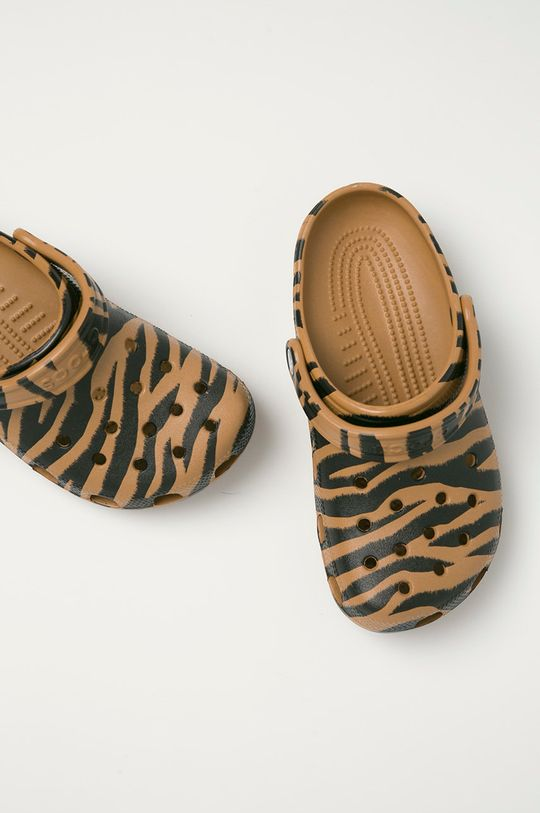 złoty brąz Crocs - Klapki