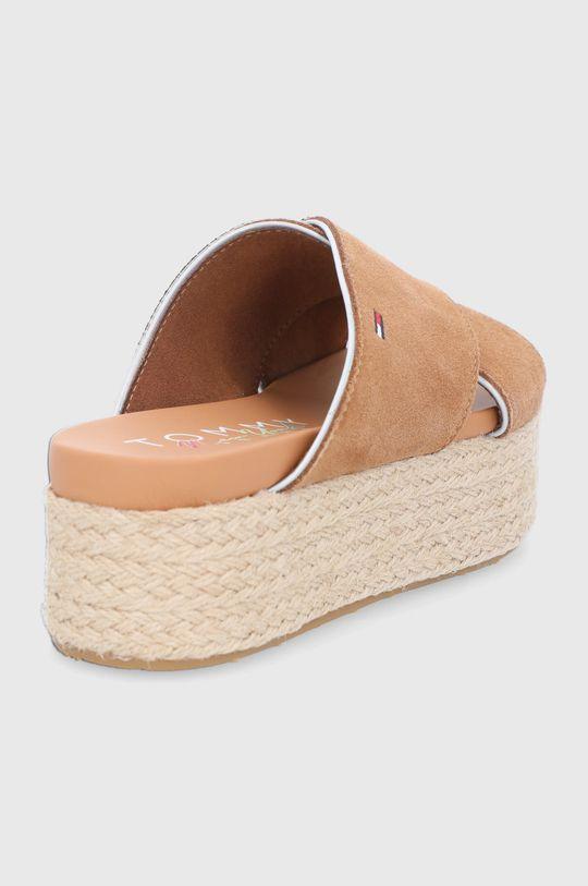Tommy Jeans - Semišové pantofle  Svršek: Semišová kůže Vnitřek: Umělá hmota, Textilní materiál Podrážka: Umělá hmota