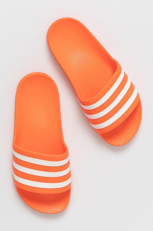mandarínková adidas - Šľapky Adilette Aqua