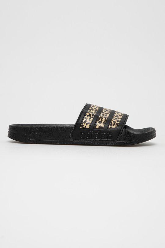 czarny adidas - Klapki Damski