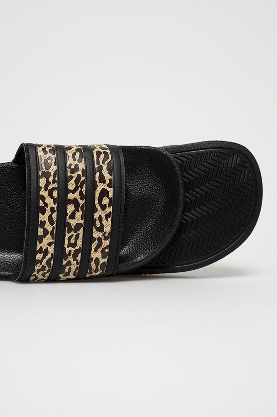 czarny adidas - Klapki