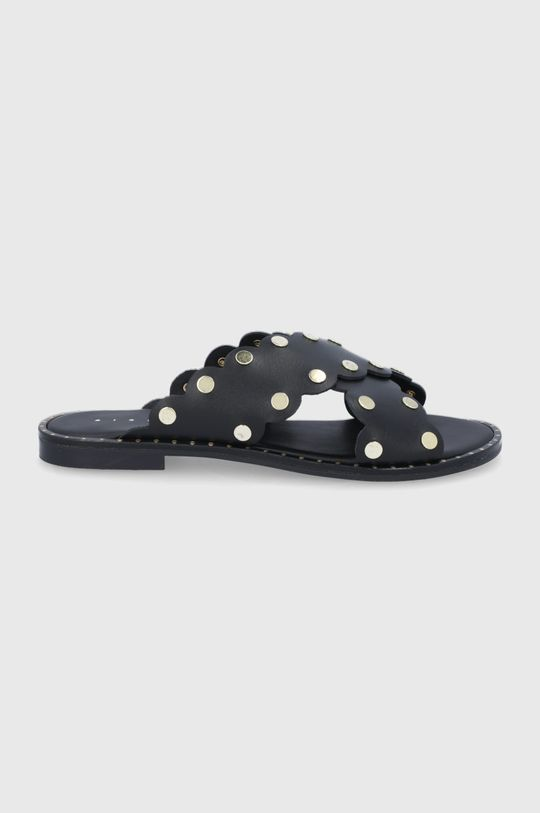 černá Sisley - Kožené sandály Dámský