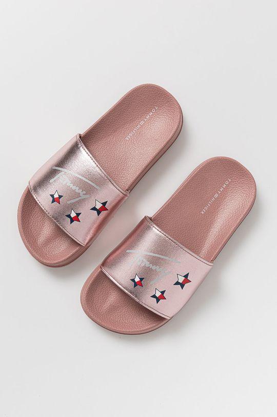 Tommy Hilfiger - Dětské pantofle růžová