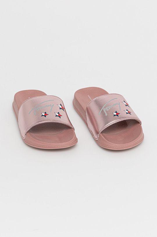 růžová Tommy Hilfiger - Dětské pantofle
