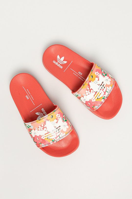 adidas Originals - Dětské pantofle Adilette Lite červená