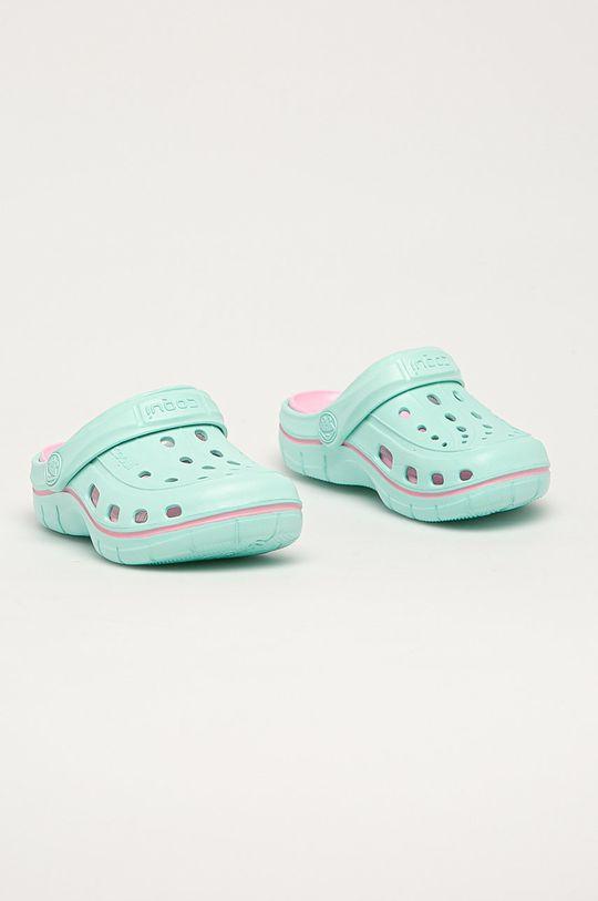 Coqui - Dětské pantofle tyrkysová