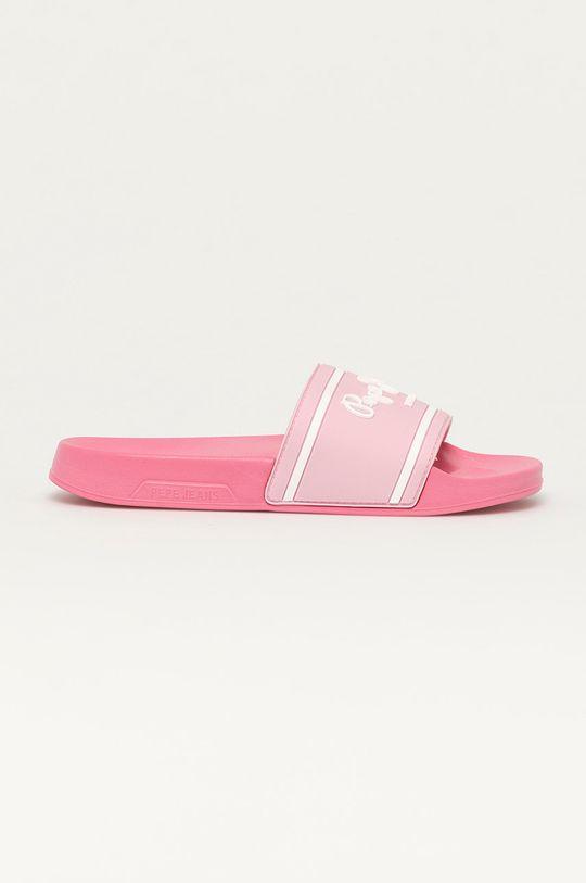 ostry różowy Pepe Jeans - Klapki dziecięce Logo Dziewczęcy