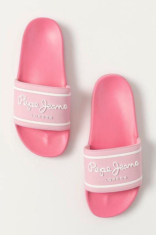 ostry różowy Pepe Jeans - Klapki dziecięce Logo