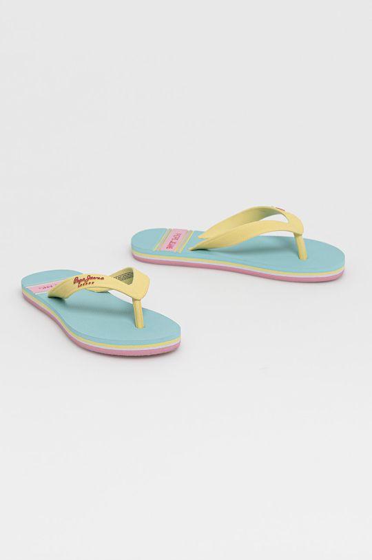 Pepe Jeans - Detské žabky Bay Beach svetlomodrá