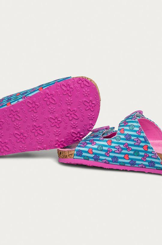 Skechers - Detské šľapky  Zvršok: Textil Vnútro: Textil Podrážka: Syntetická látka