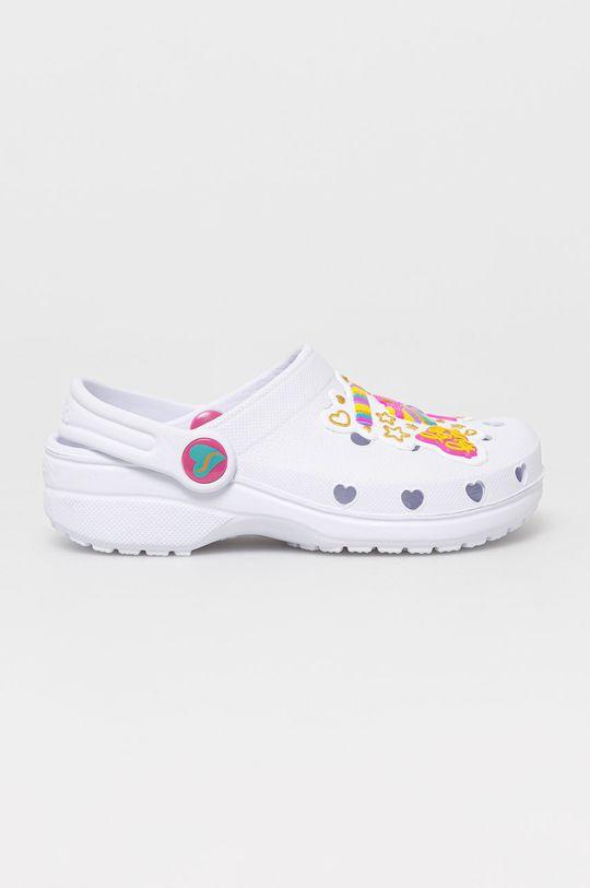 biały Skechers - Klapki dziecięce Dziewczęcy