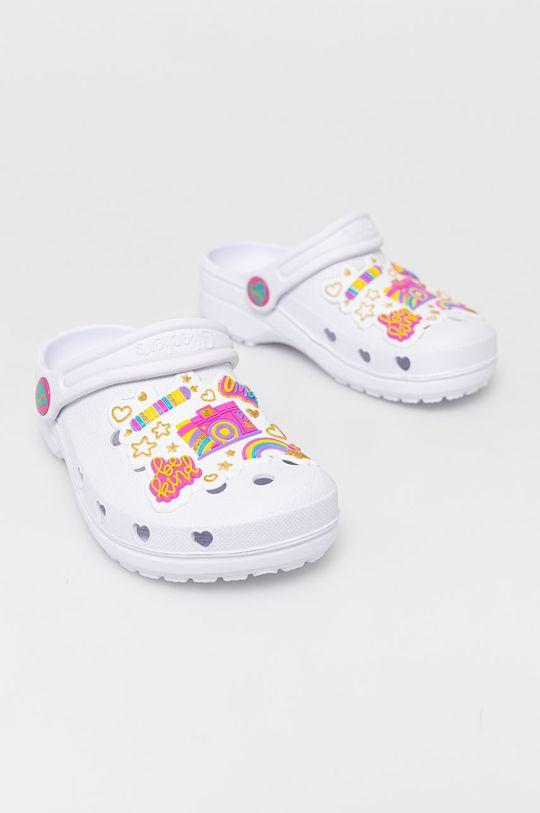 Skechers - Klapki dziecięce biały