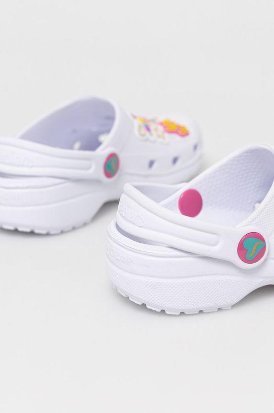 Skechers - Klapki dziecięce Materiał syntetyczny