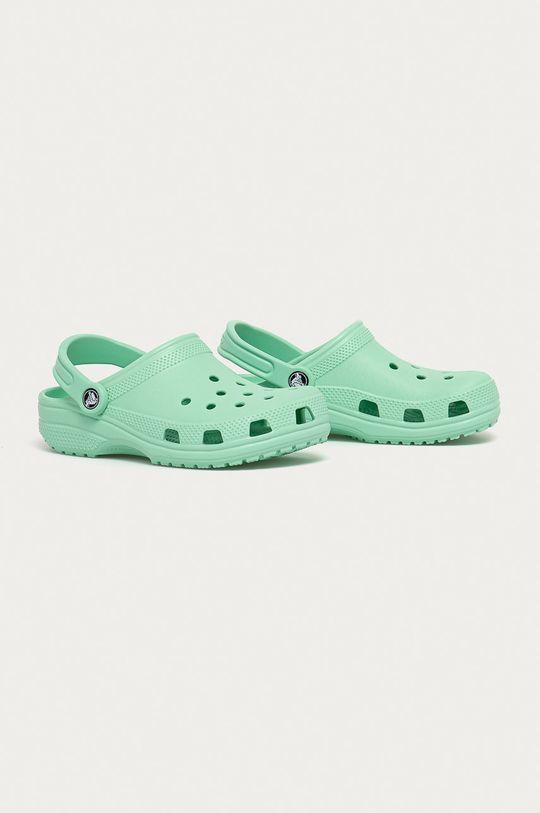 Crocs - Dětské pantofle světle zelená