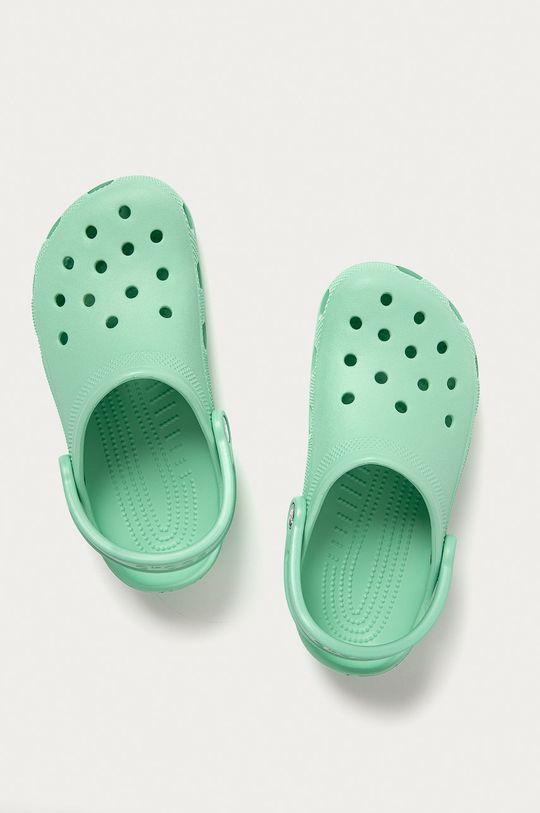 světle zelená Crocs - Dětské pantofle