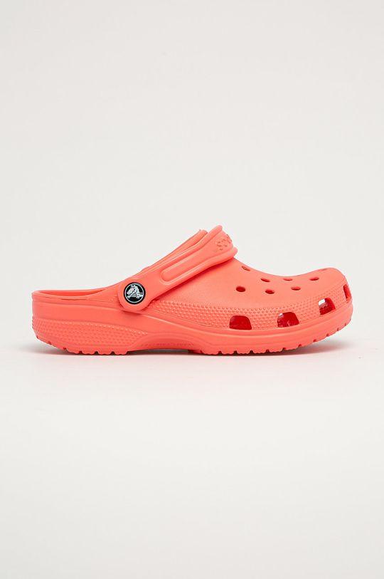broskvová Crocs - Dětské pantofle Dívčí
