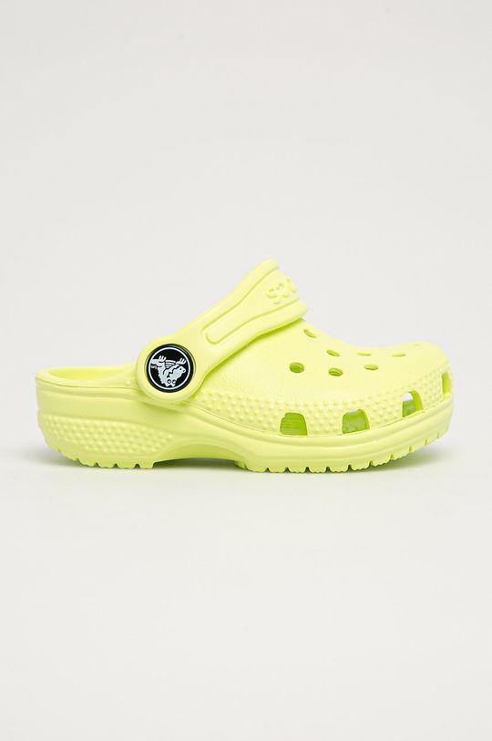 žlutě zelená Crocs - Dětské pantofle Dívčí