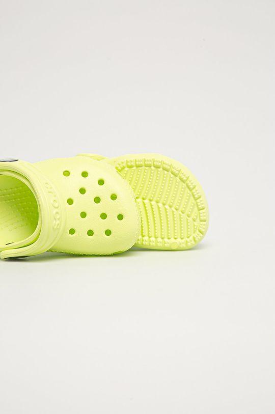 žlutě zelená Crocs - Dětské pantofle