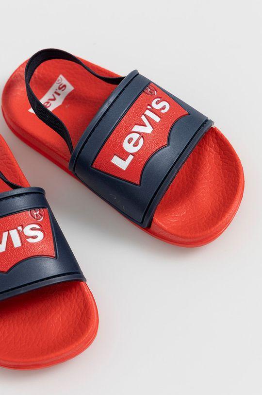 Levi's - Klapki dziecięce ostry czerwony