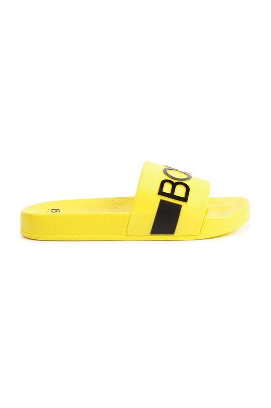 Boss - Dětské pantofle žlutá