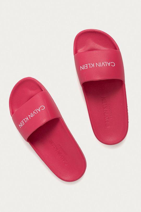 Calvin Klein - Pantofle ostrá růžová