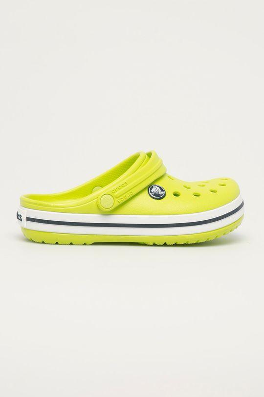 žlutě zelená Crocs - Dětské pantofle Dětský