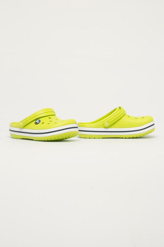 Crocs - Dětské pantofle žlutě zelená
