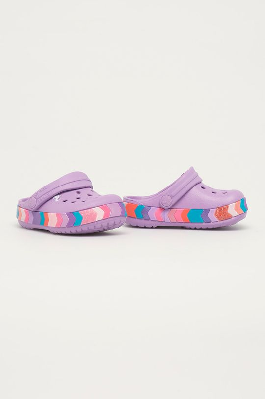 Crocs - Dětské pantofle fialová