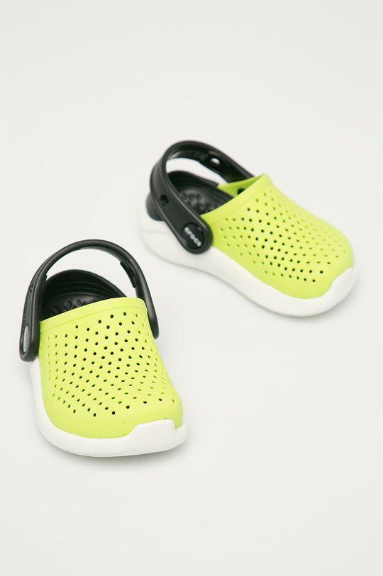 Crocs - Klapki żółto - zielony