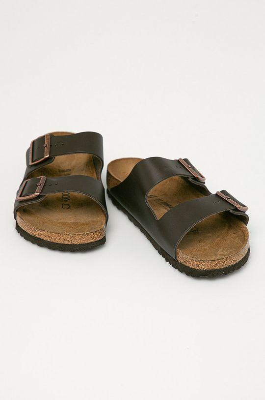 Birkenstock - Klapki skórzane Arizona brązowy