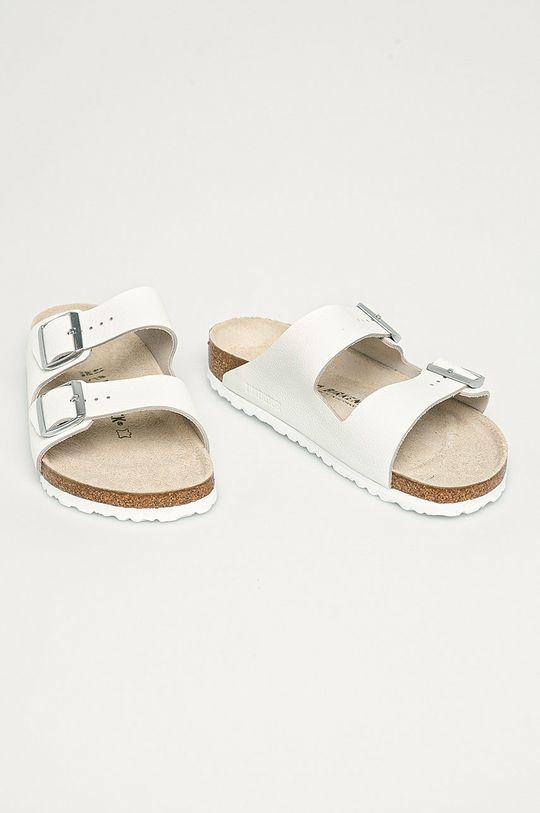 Birkenstock - Semišové šľapky Arizona biela