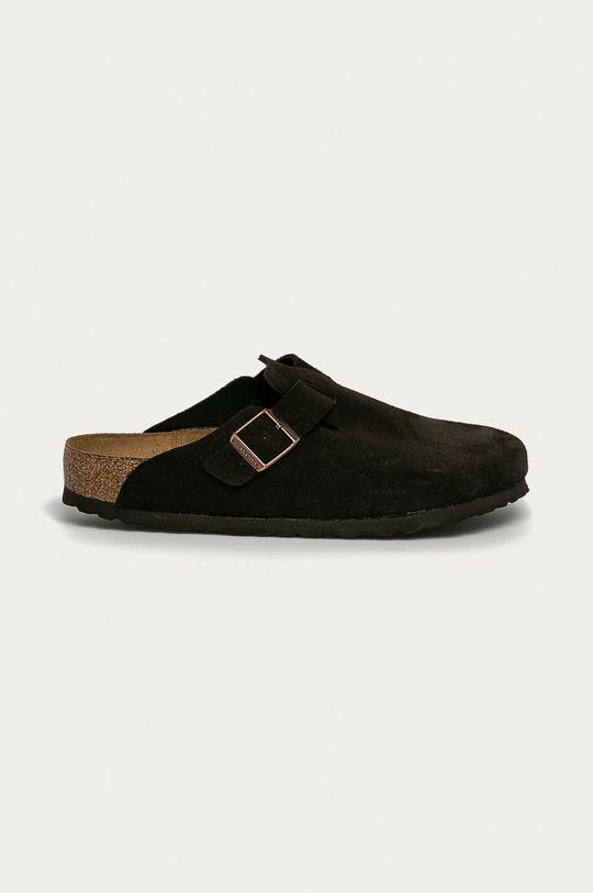 maro Birkenstock - Papuci din piele Boston De bărbați
