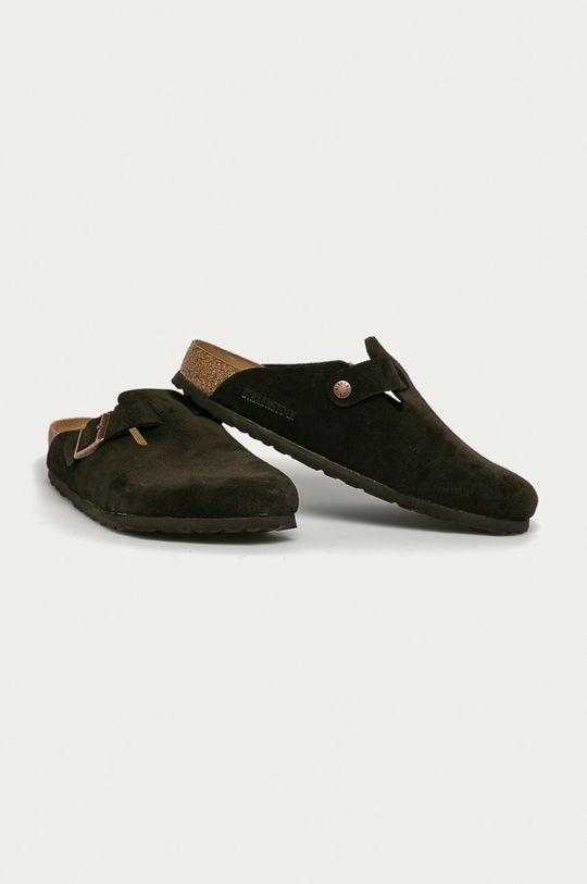 Birkenstock - Papuci din piele Boston maro
