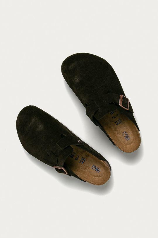Birkenstock - Papuci din piele Boston  Gamba: Piele intoarsa Interiorul: Piele naturala Talpa: Material sintetic