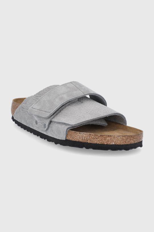 Birkenstock - Semišové šľapky sivá