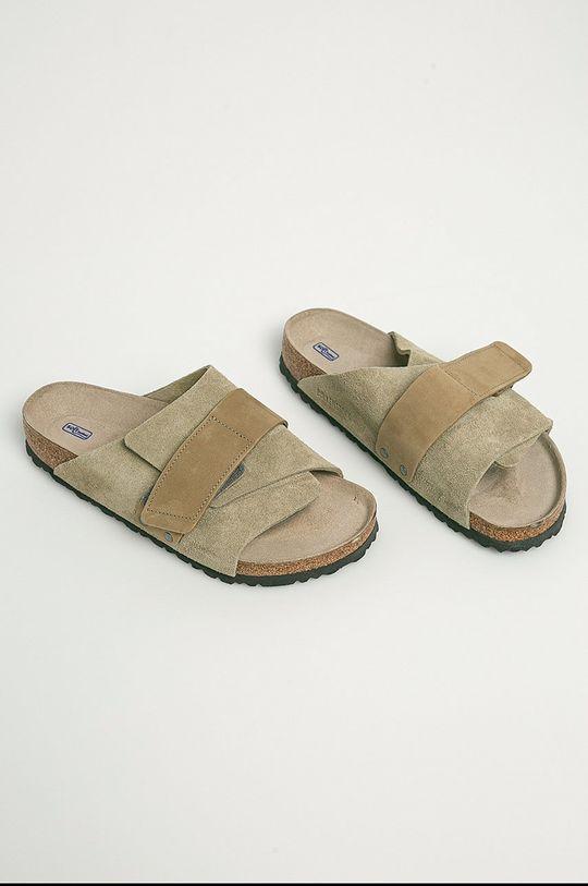 Birkenstock - Papuci din piele Kyoto verde