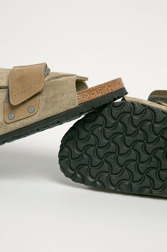 Birkenstock - Papuci din piele Kyoto  Gamba: Piele intoarsa Interiorul: Piele naturala Talpa: Material sintetic