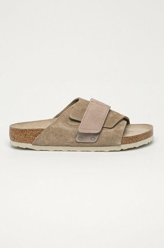 šedá Birkenstock - Kožené pantofle Kyoto Pánský