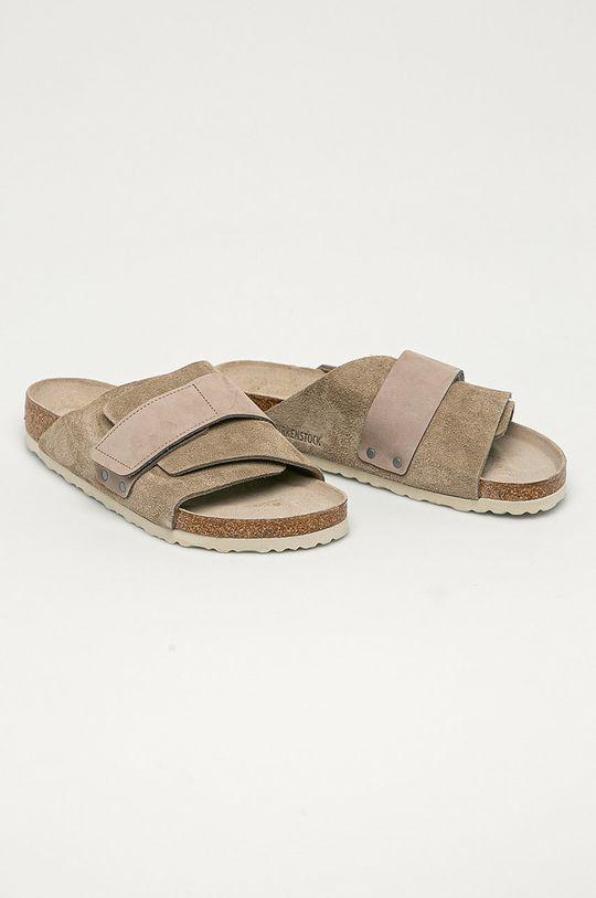 Birkenstock - Kožené pantofle Kyoto šedá