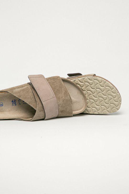 Birkenstock - Kožené pantofle Kyoto  Svršek: Přírodní kůže Vnitřek: Přírodní kůže Podrážka: Umělá hmota