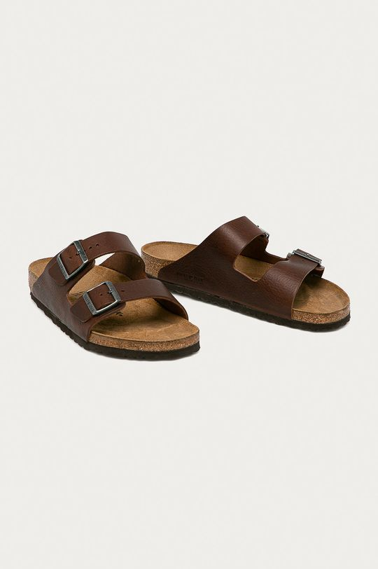 Birkenstock - Kožené pantofle Arizona hnědá