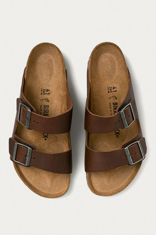hnědá Birkenstock - Kožené pantofle Arizona