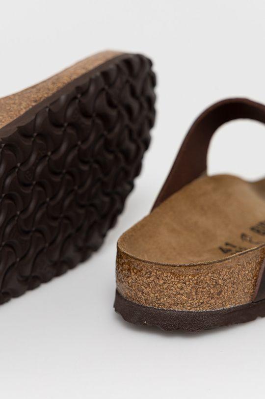 Birkenstock - Kožené žabky Gizeh Fl Habana  Zvršok: Prírodná koža Vnútro: Textil, Prírodná koža Podrážka: Syntetická látka