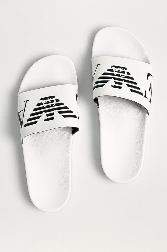 biały Emporio Armani - Klapki