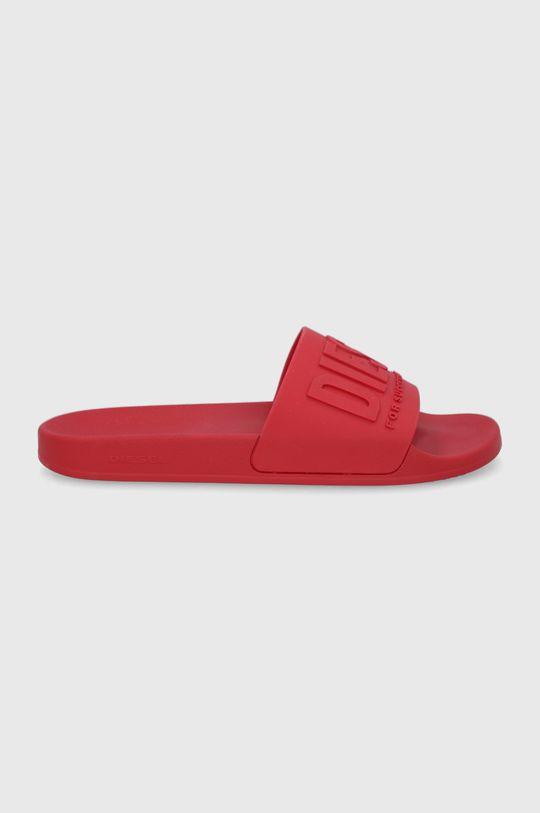 červená Diesel - Pantofle Pánský