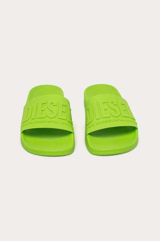 Diesel - Šľapky žlto-zelená