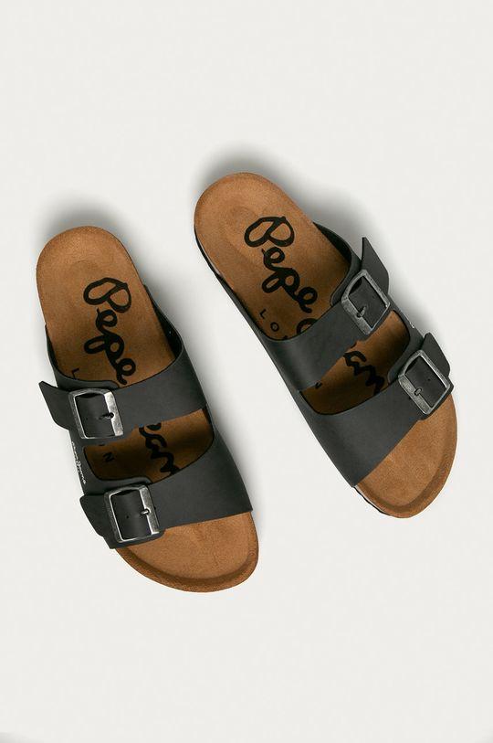 Pepe Jeans - Pantofle grafitová